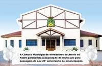 Câmara de Vereadores parabeniza a população do município pelo seu 24° aniversário de emancipação