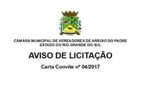Câmara realiza Processo Licitatório para aquisição de equipamentos e de materiais permanentes