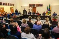 Câmara realiza Sessão Solene em comemoração ao 21º Aniversário de Emancipação, à 15ª Festa Municipal de Arroio do Padre e à 11ª Festa Regional do Caqui da Maçã